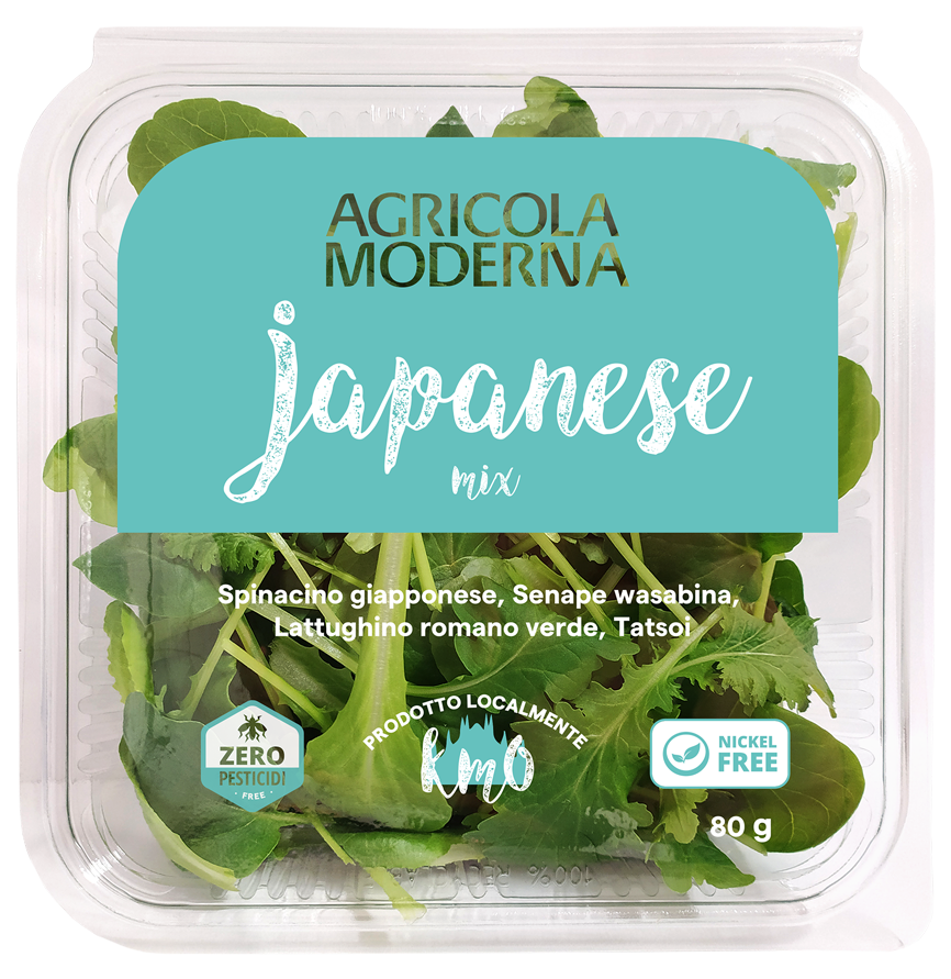 mix di insalata Japanese Mix di Agricola Moderna